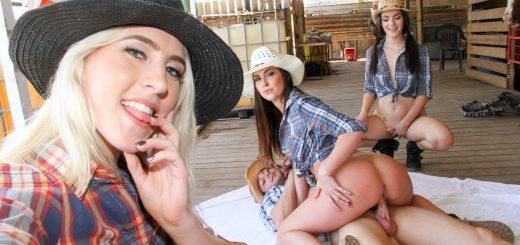 Bffs Kirsten, Zoe, and Kayla in Farm Girls 13