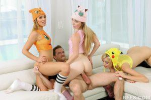 BFFS Shane, Kelly and Michelle in Poke Man Go! 12